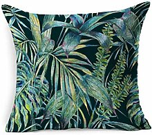 Throw Pillow Cover Square Natural Green Forest