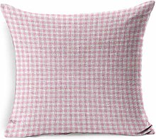 Throw Pillow Cover Square Party Gingham Pink