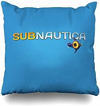 Throw Pillow Cover Square Subnautica Logo