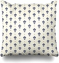 Throw Pillow Cover Square Travel French Pattern