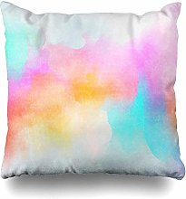 Throw Pillow Cover Square Watercolour Color