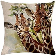 Throw Pillow Covers 18 x 18 Inches Giraffe