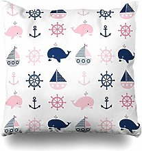 Throw Pillow Covers Character Navy Girl Cute