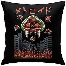 Throw Pillow Covers Parasitic Kaiju Metroid Prime