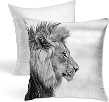 Throw Pillow Lion Printing With Pillow Core