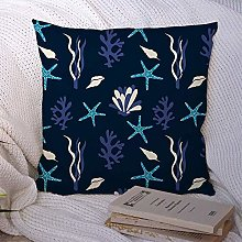 Throw Pillow Pillow Case Shell Starfish Coral