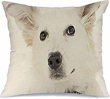 Throw Pillowcase Brown Baby Dog Studio On Pet