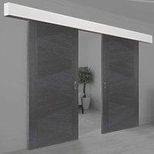 Thruframe White Primed Pelmet Kit for Double Sliding Doors