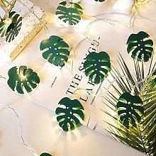 Thsinde - 10 Ones Design Leaf String Lights 6.56ft