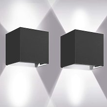 Thsinde - 12W LED Wall Light 2 Pieces Outdoor Wall