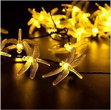 Thsinde - 2pcs LED outdoor solar string lights