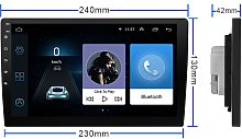 Thsinde - Android Car Radio for VW GPS Navigation 9 Inch HD Touchscreen Bluetooth AM FM Receiver for Passat Golf Jetta EOS Polo Seat
