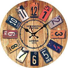 Thsinde - European style creative wooden clock