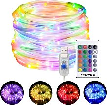 Thsinde - LED Rope Lights Outdoor, 33ft RGB Color
