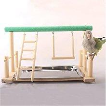 Thsinde - Parrot Solid Wood Stand, Bird Playground