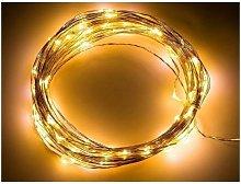 Thsinde - Solar Fairy String Lights 2 Pack, 100LED