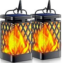 Thsinde - Solar Light Outdoor Flashing Flame Solar