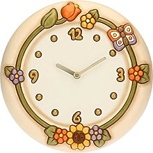 THUN ® - Country Wall Clock with Flowers and