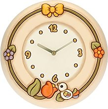 THUN ® - Country Wall Clock with Tulip and Bird