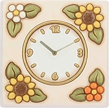 THUN - Square Wall Clock with Sunflowers - Home