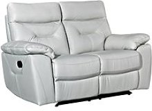Tiana Contemporary Recliner 2 Seater Sofa In Putty