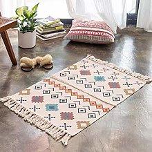 TIANENG Cotton Linen Chenille Floor Mat Rug Sofa