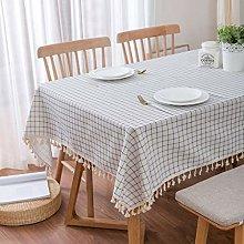 TIANENG Tablecloth Cotton Linen Mediterranean