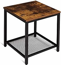 Tianlang Industrial End Table, Square Side Table,