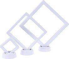 TIANTIAN 3 Pieces Coin 3D Display Stand Box Set