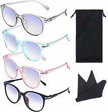 TIANTIAN 4 pcs Blue Light Blocking Glasses for