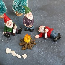 TIANTIAN 4pcs Miniature Garden Gnome Sets Fairy