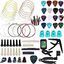 TIANTIAN 66 Pcs Guitar Repair and Setup Tool Kit