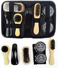 TIANTIAN 8Pcs Full Leather Shoe Polish Kit