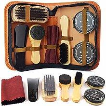 TIANTIAN 8Pcs/Set Shoes Care Kit with Portable Bag