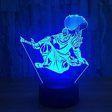 TIANXIAWUDI 3D Night Light Energy Saving LED Touch