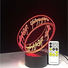 TIANXIAWUDI Lord Of The Rings 3D Lamp 7 Colors