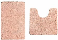 TIANYOU 2-Piece Bathroom Floor Mats Non-Slip Solid