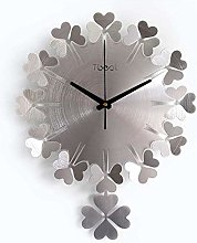 TIANYOU 3D Four-Leaf Clover Wall Clock,Silent