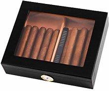 TIANYOU Black Red Cedar Wooden Cigar Box (30