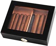 TIANYOU Black Red Cedar Wooden Cigar Box (30Pcs