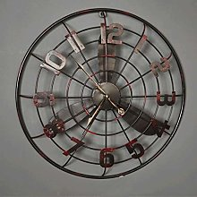 TIANYOU Clock Retro Fan Wall Decorative Wall Bar