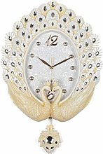 TIANYOU Clock Wall-Mounted Wall 20 Inches Pendulum