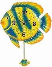 TIANYOU Clock Wall Pendulum Silent Decoration Art