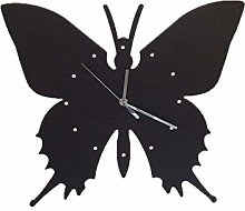 TIANYOU Wooden Wall Clock,Stylish Large Butterfly