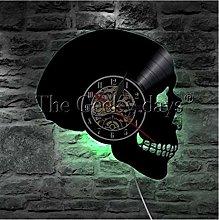 TIANZly 1 Piece Halloween Wall Clock Skull Peace
