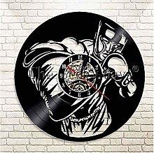TIANZly Boxing Vinyl Record Wall Clock Sport Hobby