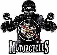 TIANZly Classic Motorcycle 3D Wall Clock with LED