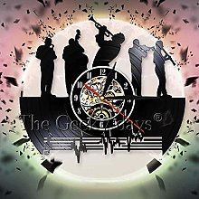TIANZly Classical Musical Theme Wall Clock Jazz