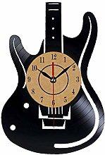 TIANZly Electric Guitar Design Vinyl Wall Clock