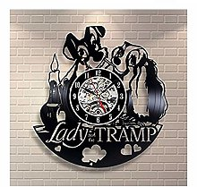 TIANZly Lady and the Tramp Vinyl Record Wall Clock